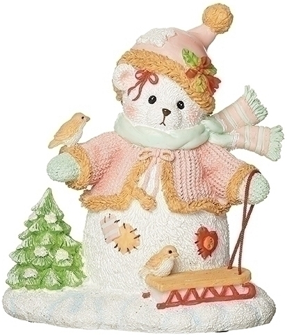 Cherished Teddies 133474 Clara Snowbear with Tree