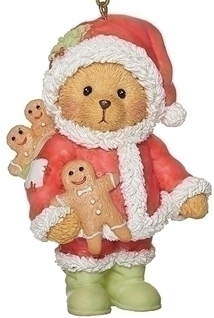 Cherished Teddies 133476 Santa Suit Teddie Ornament