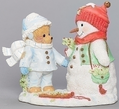 Cherished Teddies 133477 Michael Bear with Snowman