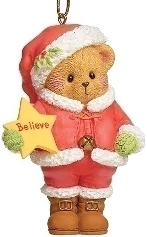 Cherished Teddies 134210 Santa Bear Believe Ornament