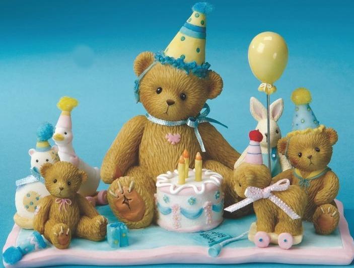 Cherished Teddies 4015562 A Special Birthday Celebration Figurine