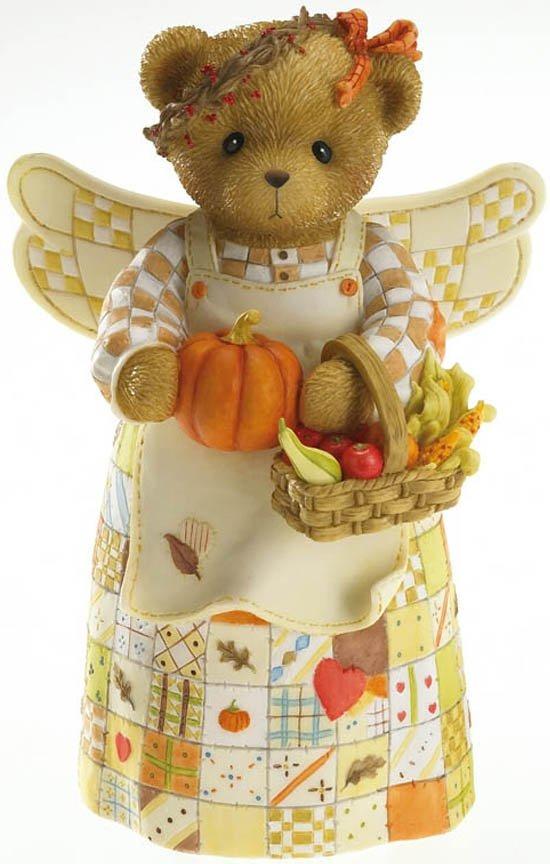 Cherished Teddies 4016792 Autumn Angel Figurine