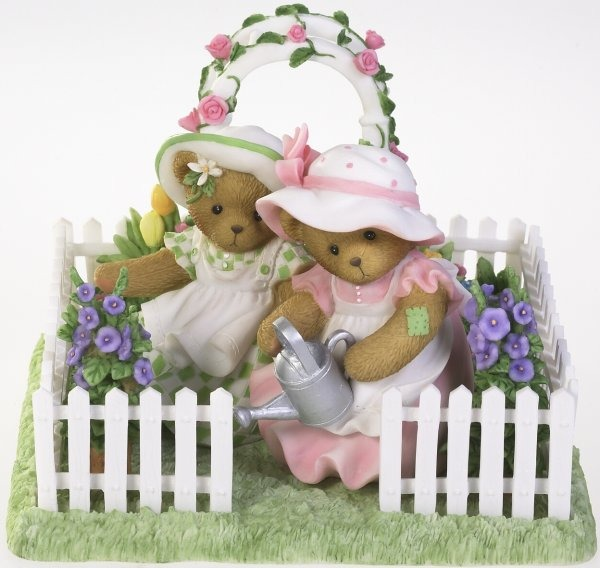 Cherished Teddies 4016841 Friends in the Garden Figurine