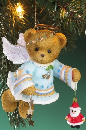 Cherished Teddies 4016867 Angel Bear Holding Santa