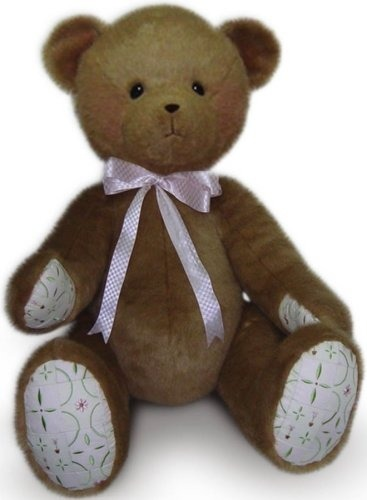 Cherished Teddies 4019617 Bear With Quilted Paw Pads