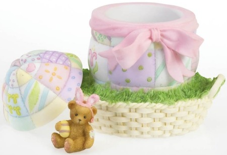 Cherished Teddies 4020588 Easter Surprise Covered Box