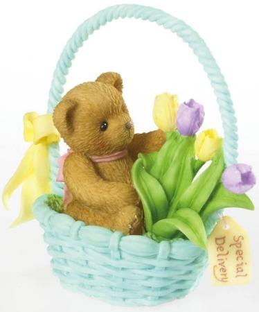 Cherished Teddies 4020589 Bear in Basket Figurine