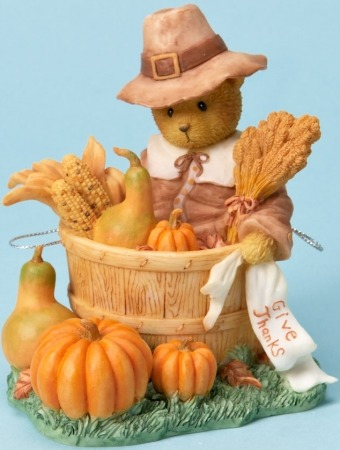 Cherished Teddies 4023731 Bear Dressed as Pilgrim Figurine