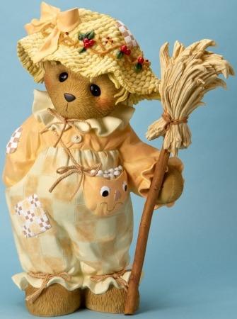 Cherished Teddies 4023732 Bear Dressed as Scarecrow Figurine
