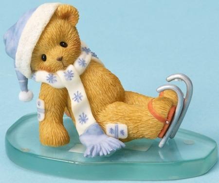 Cherished Teddies 4023744 Bear Ice Skating Figurine