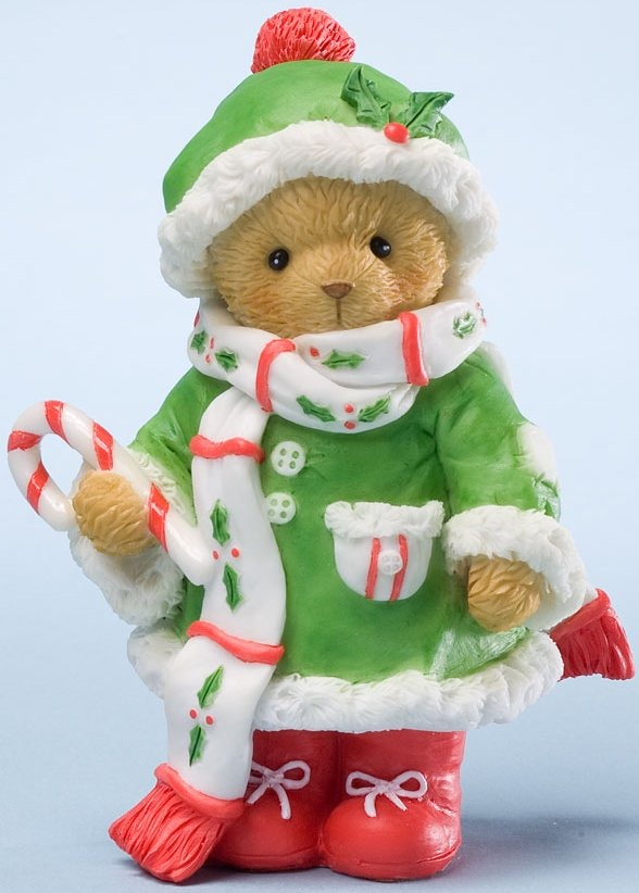 Cherished Teddies 4024339 Wrap Yourself in the Seasons Warmth Figurine
