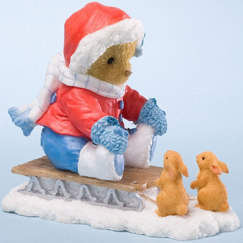 Cherished Teddies 4024342 Slide into a Season of Surprises Figurine