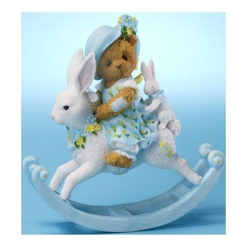 Cherished Teddies 4025787 Girl on Rocking Bunny Figurine