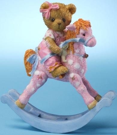 Cherished Teddies 4025790 Girl on Rocking Horse Figurine