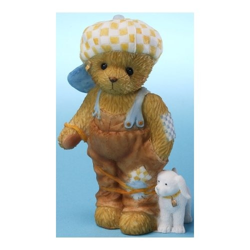 Cherished Teddies 4025792 Boy and Dog Tied Up Figurine