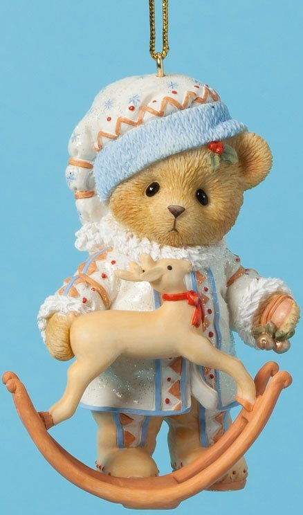 Cherished Teddies 4026275 Ornament Bear Reindeer Rocker