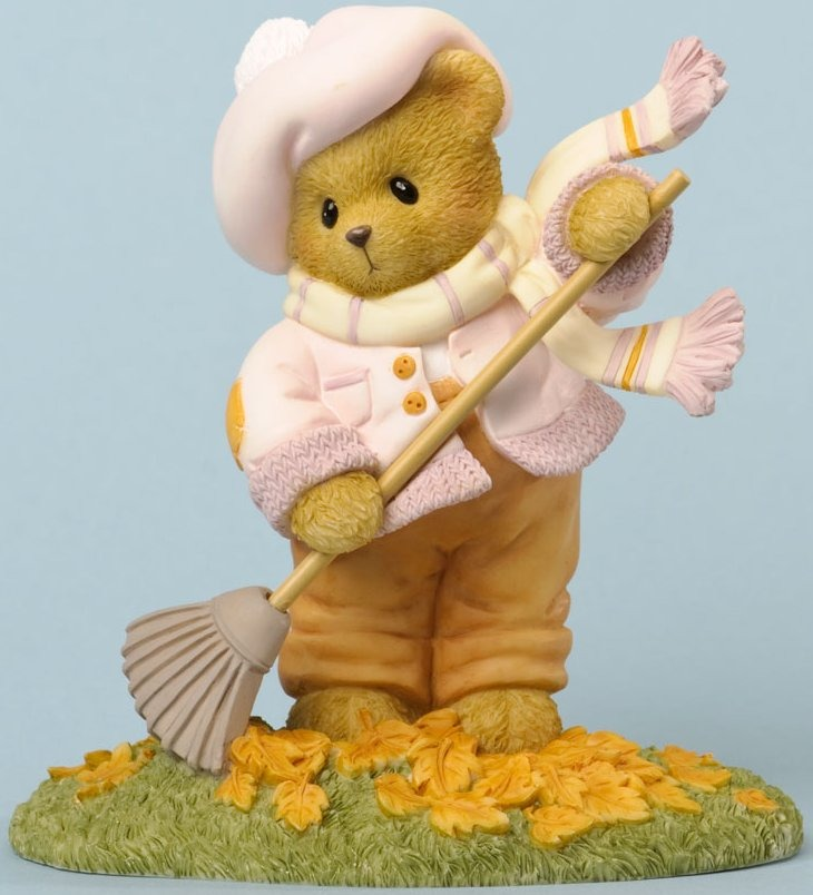 Cherished Teddies 4034589 Autumn Memories Are Piling Up