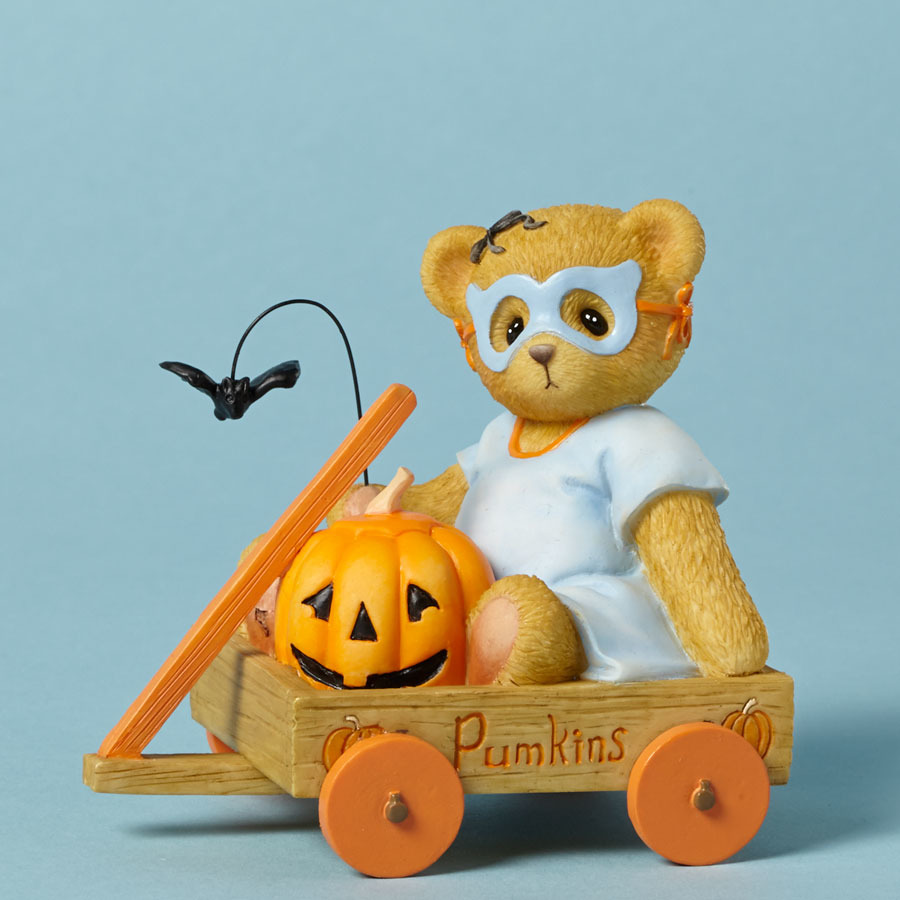 Cherished Teddies 4040452 Bear Figurine Cart Mask
