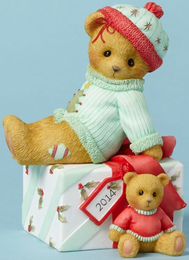 Cherished Teddies 4040458 Bear Siiting Present