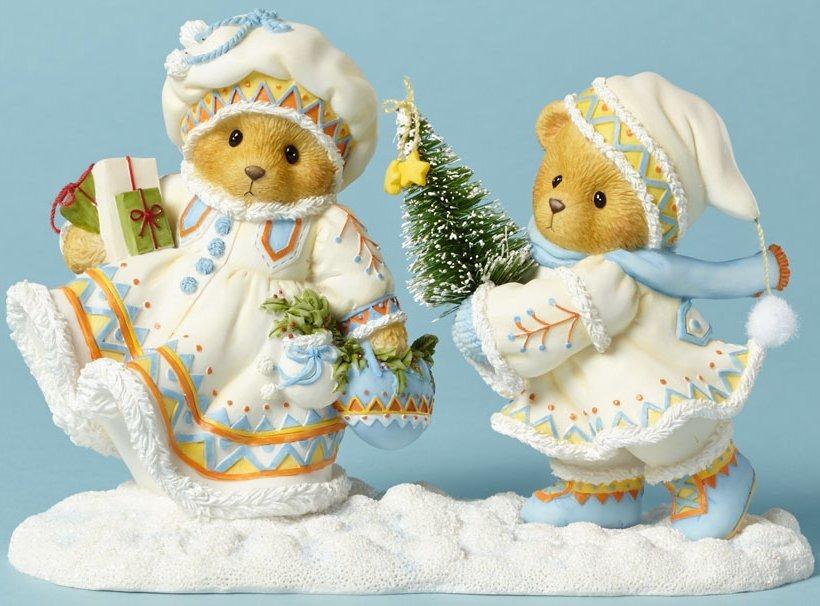 Special Sale 4040463 Cherished Teddies 4040463 Bear Tree Laplander Figurine