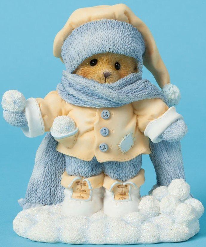 Cherished Teddies 4040464 Bear Scarf Snowball