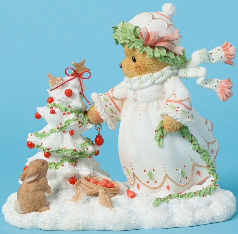 Cherished Teddies 4040467 Decorating Christmas