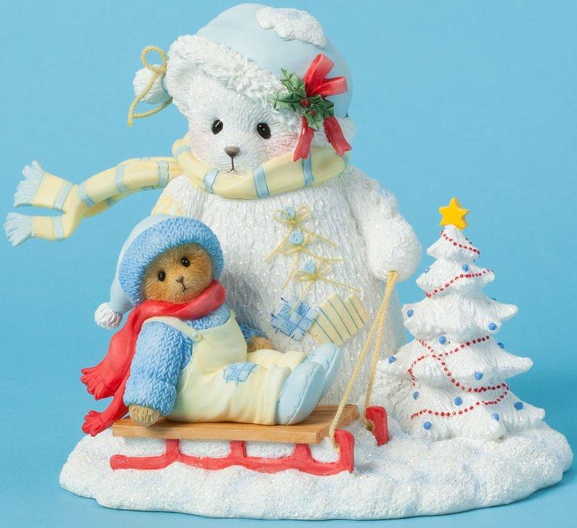 Cherished Teddies 4040468 Snowbear Bear Sled