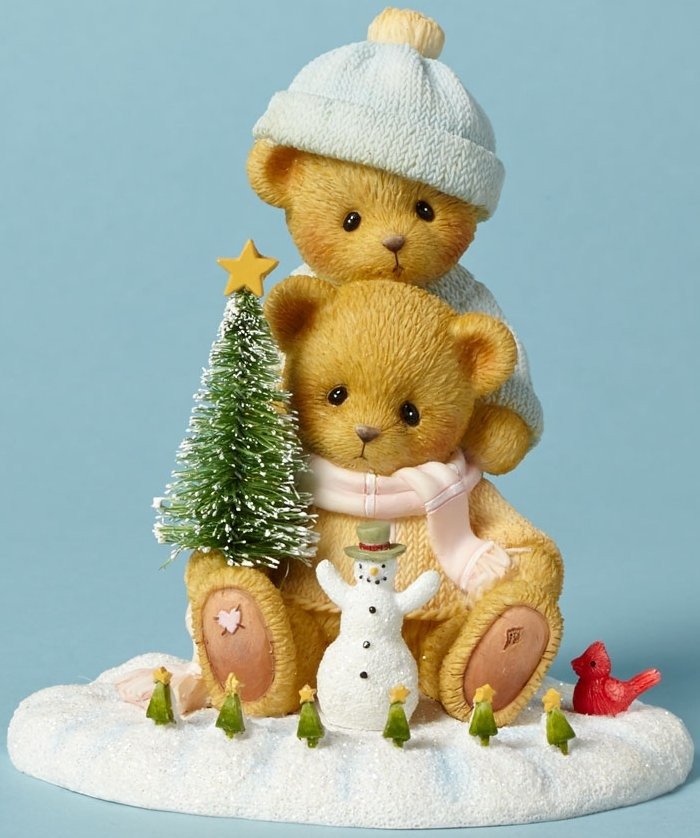Cherished Teddies 4040470 Bears Playing Snow