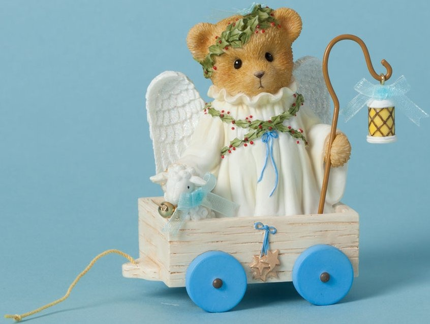Cherished Teddies 4040471 Bears Angel Cart Lam