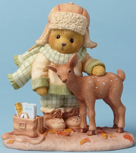 Cherished Teddies 4042746 Bear With Deer Figurine