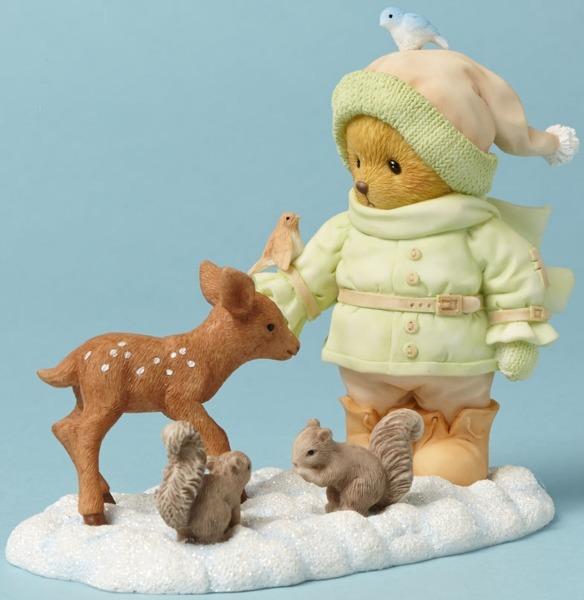 Cherished Teddies 4042747 Bear With Animals Figurine