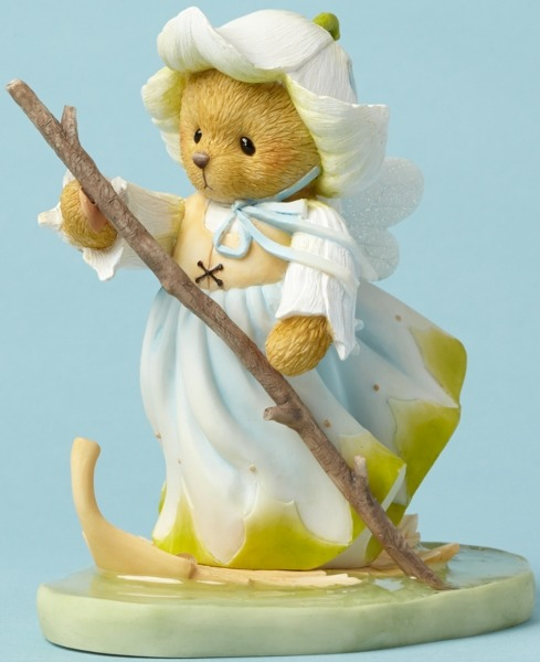 Cherished Teddies 4043637 Fairie Floating Leaf Figurine
