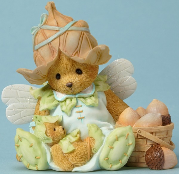 Cherished Teddies 4043638 Fairie Basket Acorns Figurine