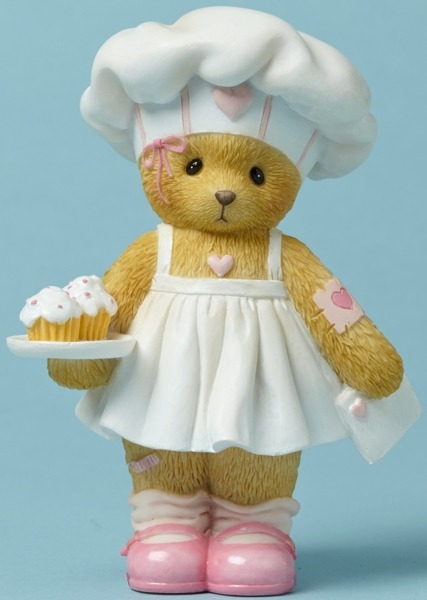 Cherished Teddies 4044686 Bear Valentine Cupca Figurine