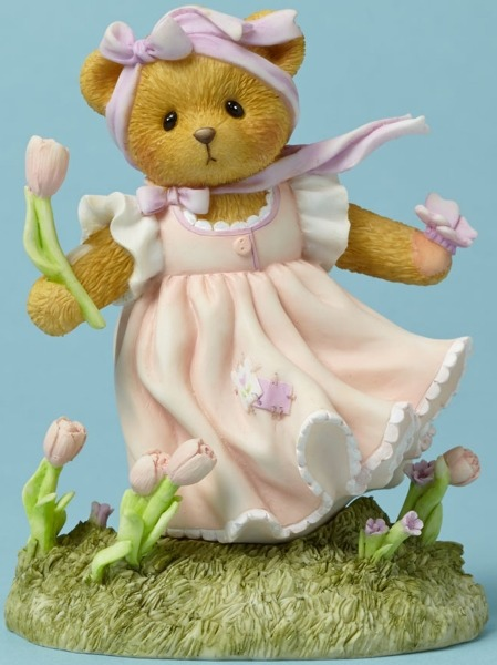 Cherished Teddies 4044692 Bear Butterfly Tulip Figurine