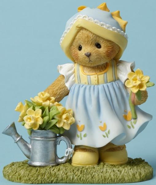 Cherished Teddies 4044693 Bear Daffodils Figurine