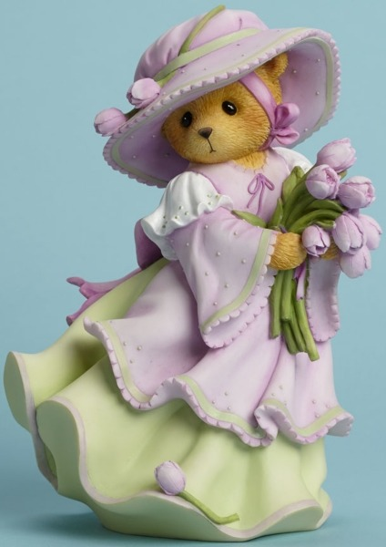 Cherished Teddies 4044694 Bear Bouquet Tulips Figurine