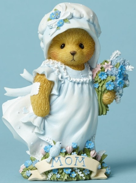 Cherished Teddies 4045992 Bear Mom Sign Flower Figurine