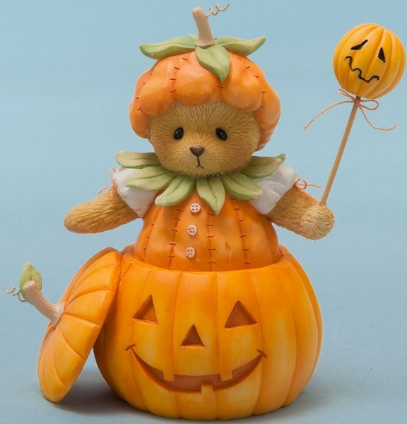 Cherished Teddies 4047367 Dressed Pumpkin Figurine