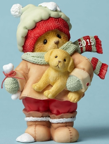 Cherished Teddies 4047375 Bear Holding Puppy D Figurine