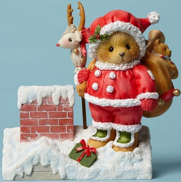 Cherished Teddies 4047378 Santa Rooftop Toys Figurine