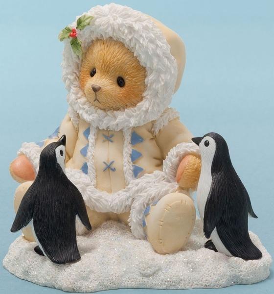 Cherished Teddies 4047388 Bear Eskimo W Pengui Figurine