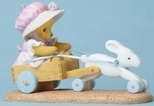 Cherished Teddies 4051038 Bunny Pulling Cart Figurine