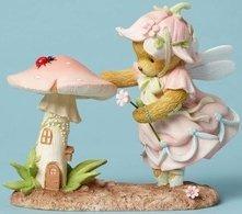 Cherished Teddies 4051043 Fairy W Mushroom Hou Figurine
