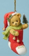 Cherished Teddies 4053452 Inside Stocking Dated Ornament