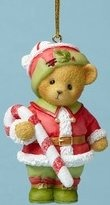 Cherished Teddies 4053473 Elf Holding Candy Can Ornament