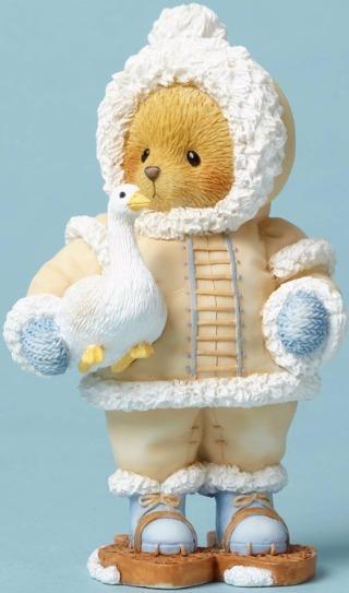 Cherished Teddies 4053476 Eskimo W Snow Goose Figurine