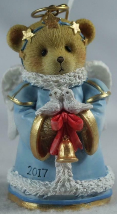 Cherished Teddies 4059133 Christmas Bells Ring And Birds Sing 2017 Ornament
