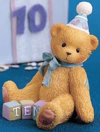 Cherished Teddies 466263 Count To 10 and Celebrate 10th Birthday
