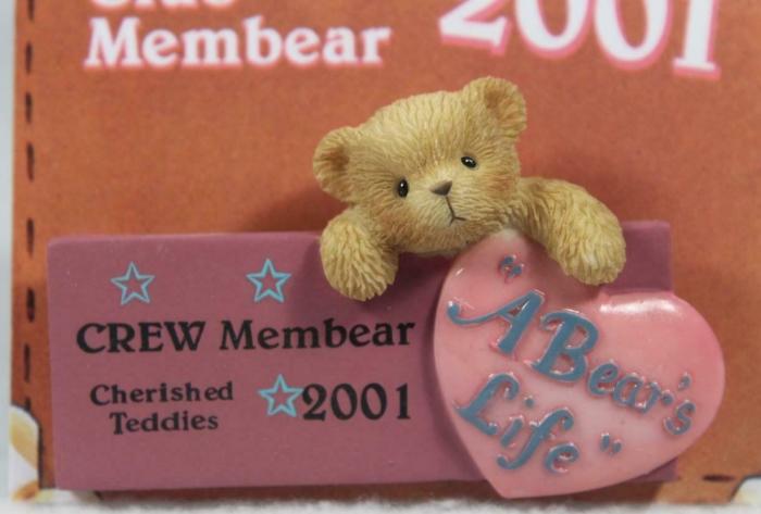 Cherished Teddies 824313 A Bear's Life 2001 Club Lapel Pin